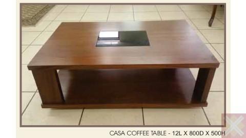 CASA COFFEE TABLE - 12L X 800D X 500H