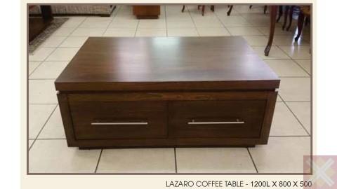 LAZARO COFFEE TABLE - 1200L X 800D X 500H