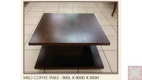 MILO COFFEE TABLE - 900L X 900D X 500H