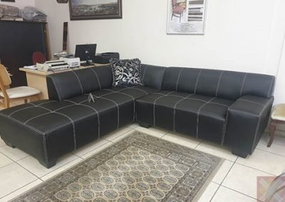 2 piece corner couch Bonded Leather