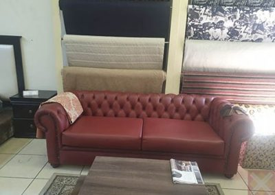 3 seater Chesterfield Genuine Leather